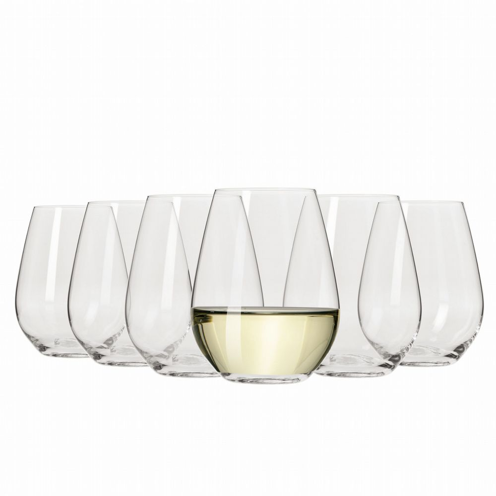 Wine Glasses - Stemless White Wine 400ml Set of 6